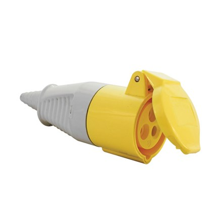 Connector 110v 2 P + E Yellow