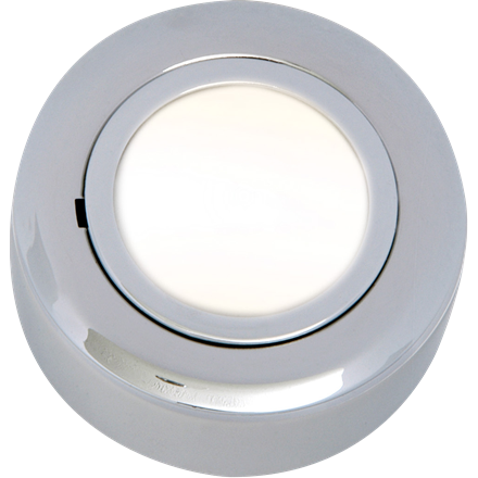 CRF02C IP20 12V L/V Chrome Cabinet Fitting Surface or Recessed (lamp included)