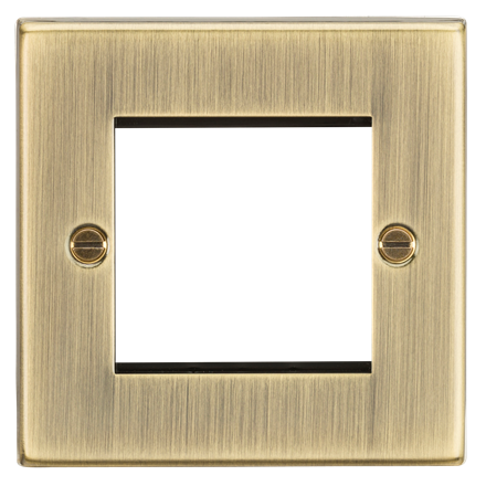 CS2GAB 2G Modular Faceplate - Square Edge Antique Brass