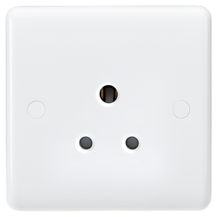 CU5U Curved Edge 5A Unswitched Round Pin Socket