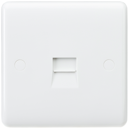 CU7400 Curved Edge Telephone Extension Socket