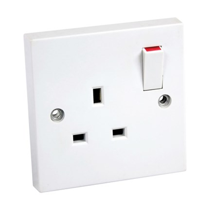 Double Pole Single Switched Socket c/w 2 Earth