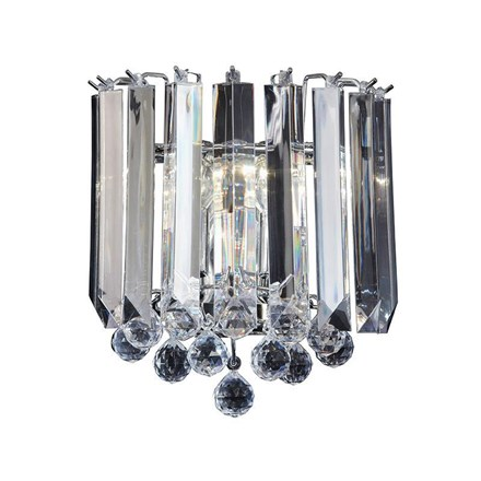 Fargo Polished Chrome with Clear Acrylic Detailing 2 Light Wall Endon FARGO-WBCH