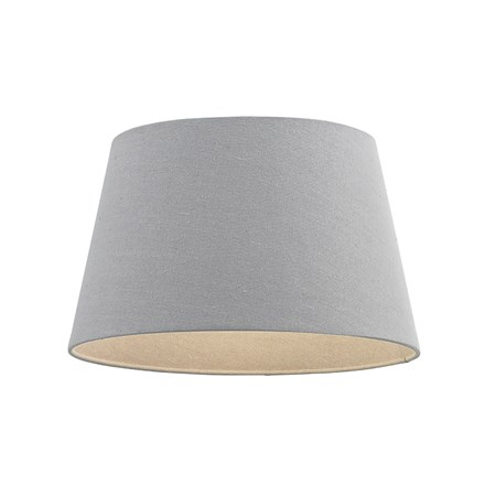 Cici Grey Linen Effect Fabric Tapered 12 inch Shade Endon CICI-12GRY