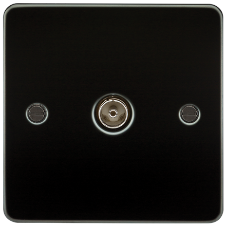 FP0100GM Flat Plate 1G TV Outlet (non-isolated) - Gunmetal