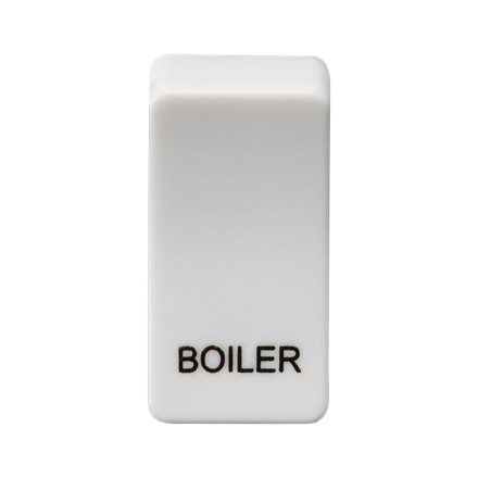 """GDBOILU Switch cover """"marked BOILER"""" - white"""