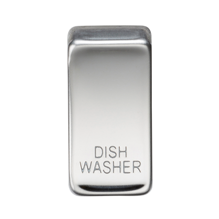 "GDDISHPC Switch cover ""marked DISHWASHER"" - polished chrome"