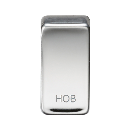 "GDHOBPC Switch cover ""marked HOB"" - polished chrome"
