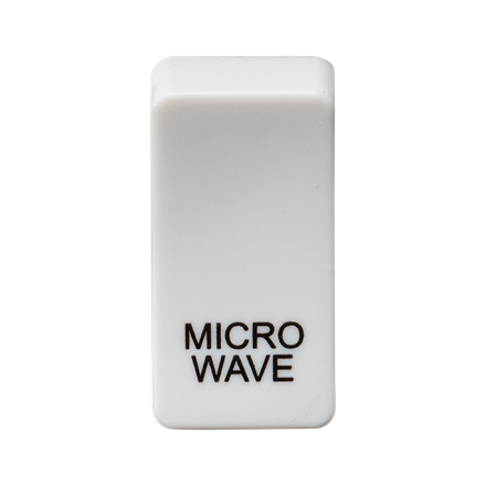 """GDMICROU Switch cover """"marked MICROWAVE"""" - white"""