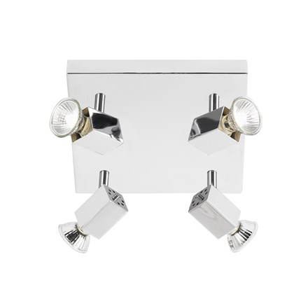 Grove Polished Chrome 4 Light Square GU10 Adjustable Endon EL-10047