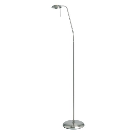 Hackney Antique Nickel Touch Dimmable Floor Lamp G9 Endon 656-FL-AN