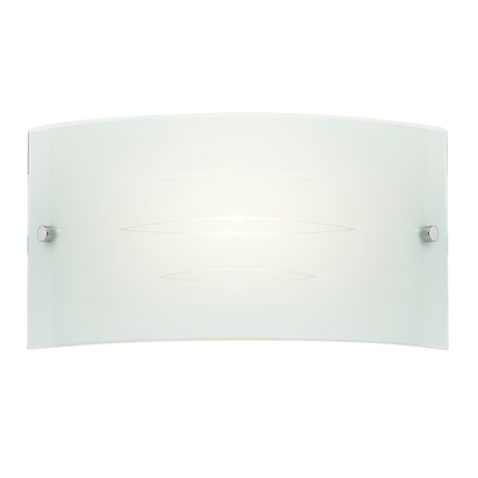 Hadley White Glass Diffuser 1 Light Wall Endon HADLEY-1WBWH