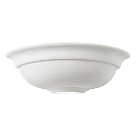 Hillside Ceramic Paintable 1 Light Wall Bracket Endon UG-WB-G
