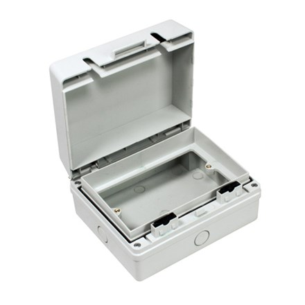 IP55 2 Gang Empty Enclosure to fit switch or socket