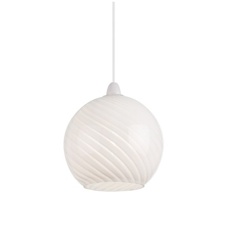 Lowther Gloss White Non Electric Pendant Endon NE-LOWTHER-WH