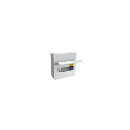 8 Free Way Metal Clad Consumer Unit c/w 100A Switch 2P ISO