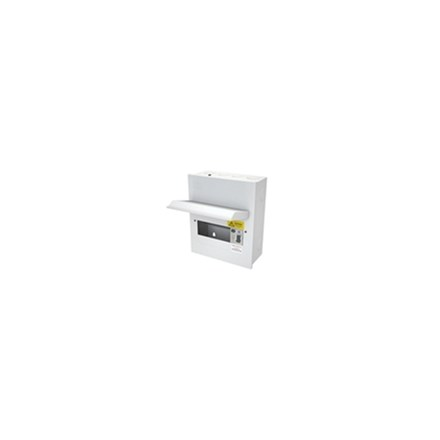 6 Free Way Metal Clad Consumer Unit c/w 80A Dp Rcd As Switch