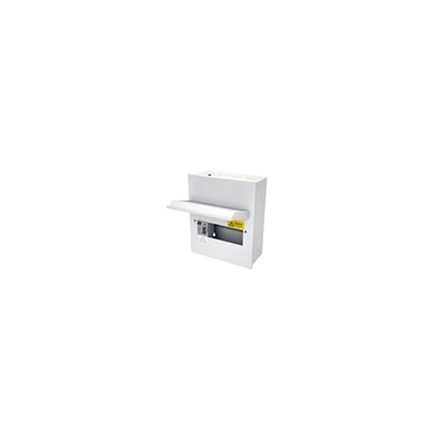 6 Free Way Metal Clad Consumer Unit c/w 100A Switch 2P ISO