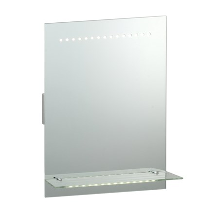 Omega IP44 1.5w Switched Bathroom Mirror with Shaver Socket