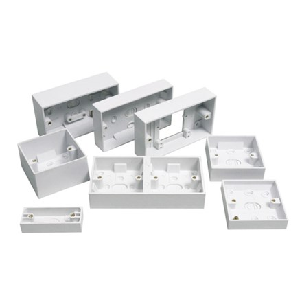 Pattress Box for 2 Gang Architrave Switch