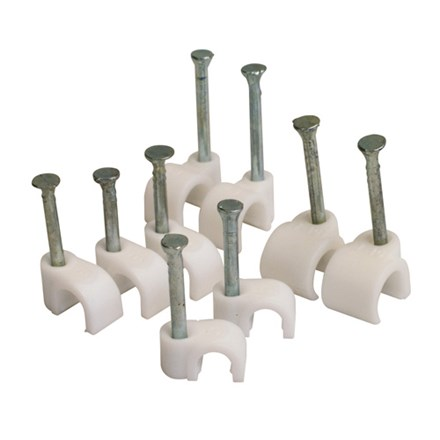 Round Clips 10mm (White)