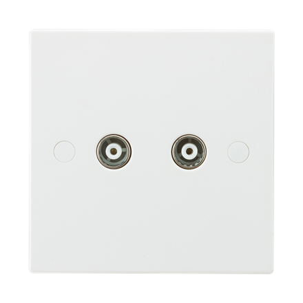 SN0110 Twin Coax TV Outlet (non-isolated)
