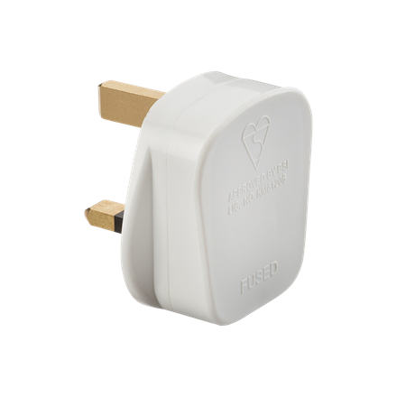 SN1382 13A Plug Top with 3A fuse - White (Screw Cord Grip)