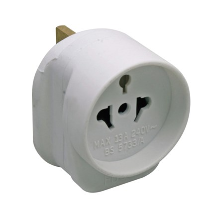 Travel Adaptor Visitor to U.K. to BS5733 (testing)
