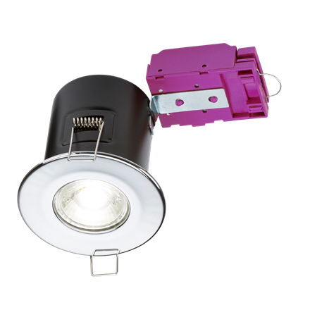 VFCDC 230V Fixed GU10 Fire-Rated Downlight Chrome