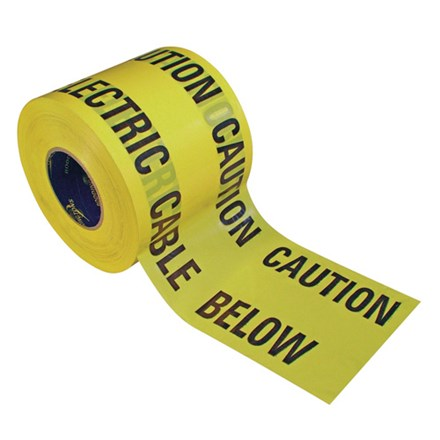 Warning/Caution Tape Yellow (Thickness - 100 microns)