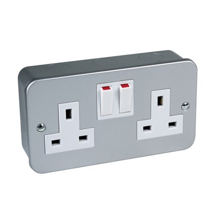 Metal Clad Switched Socket Twin 13Amp BS1363 pt2