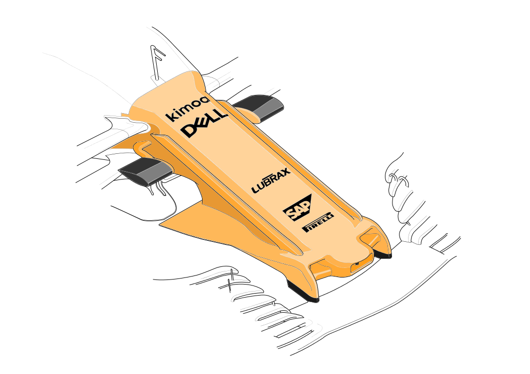 McLaren, MCL33, nose,