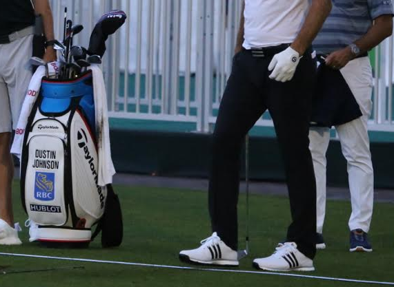 80fc5a23b2d8 ... ahead of this week s FedEx Cup Playoffs event at Ridgewood Country Club  is that DJ has - to our knowledge - never worn a spikeless golf shoe before.