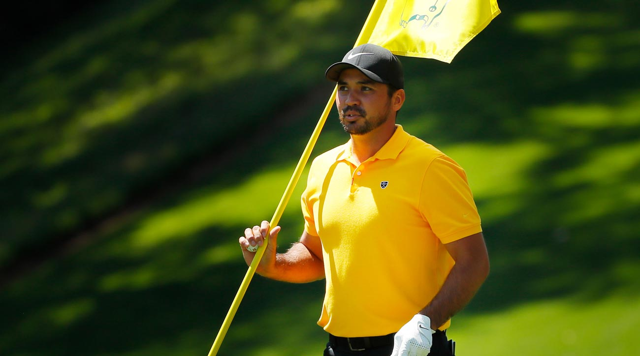 Jason Day re-injures back bending down to kiss his daughter at Masters