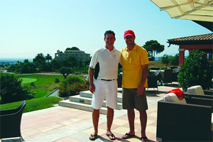 Reina (right) with Son Gual pro Michel Monnard