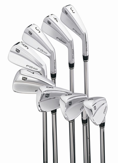FG62 irons available from 3-iron to pitching wedge