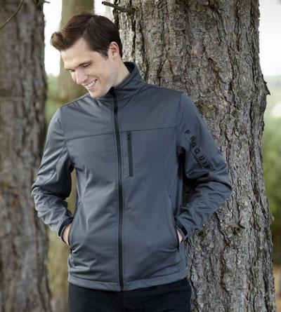 Grey version of the Pro Tech full zip jacket