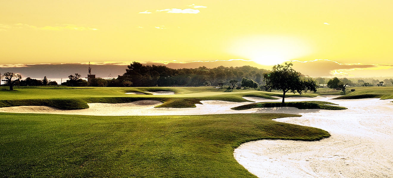 The largest bunker in Europe separates the second and third at Son Gual