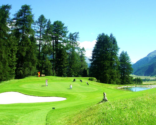 Spectacular par-3 at Kulm Hotel course
