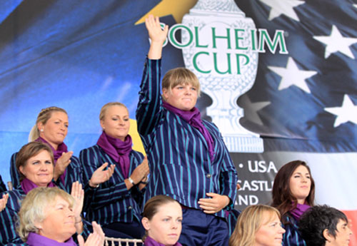 Caroline Hedwall at the Solheim Cup