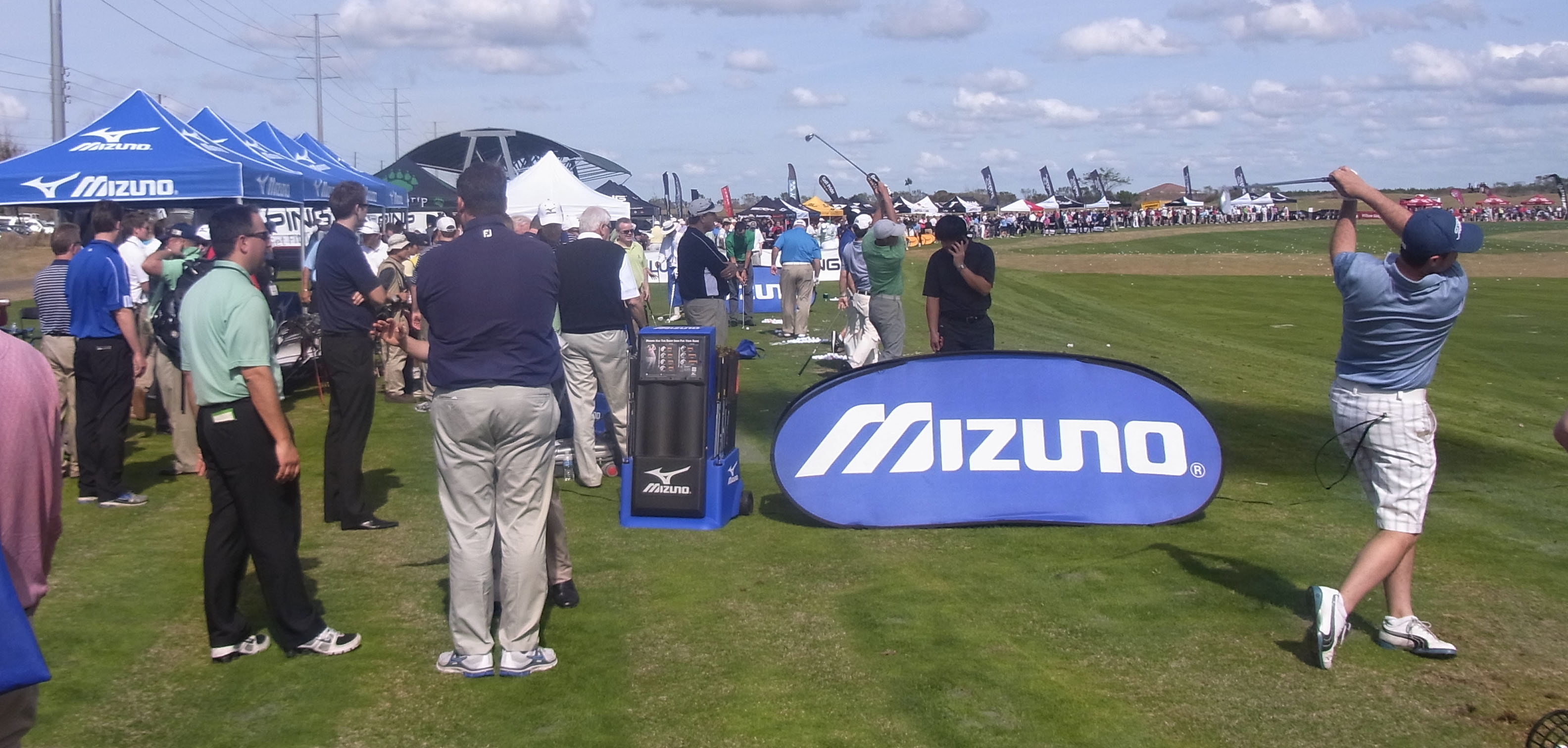 Action on the Mizuno stand yesterday
