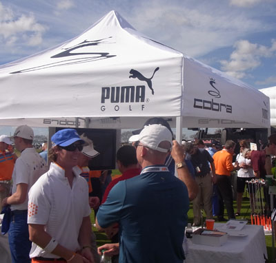 COBRA booth, complete with Rickie Fowler look-alike!