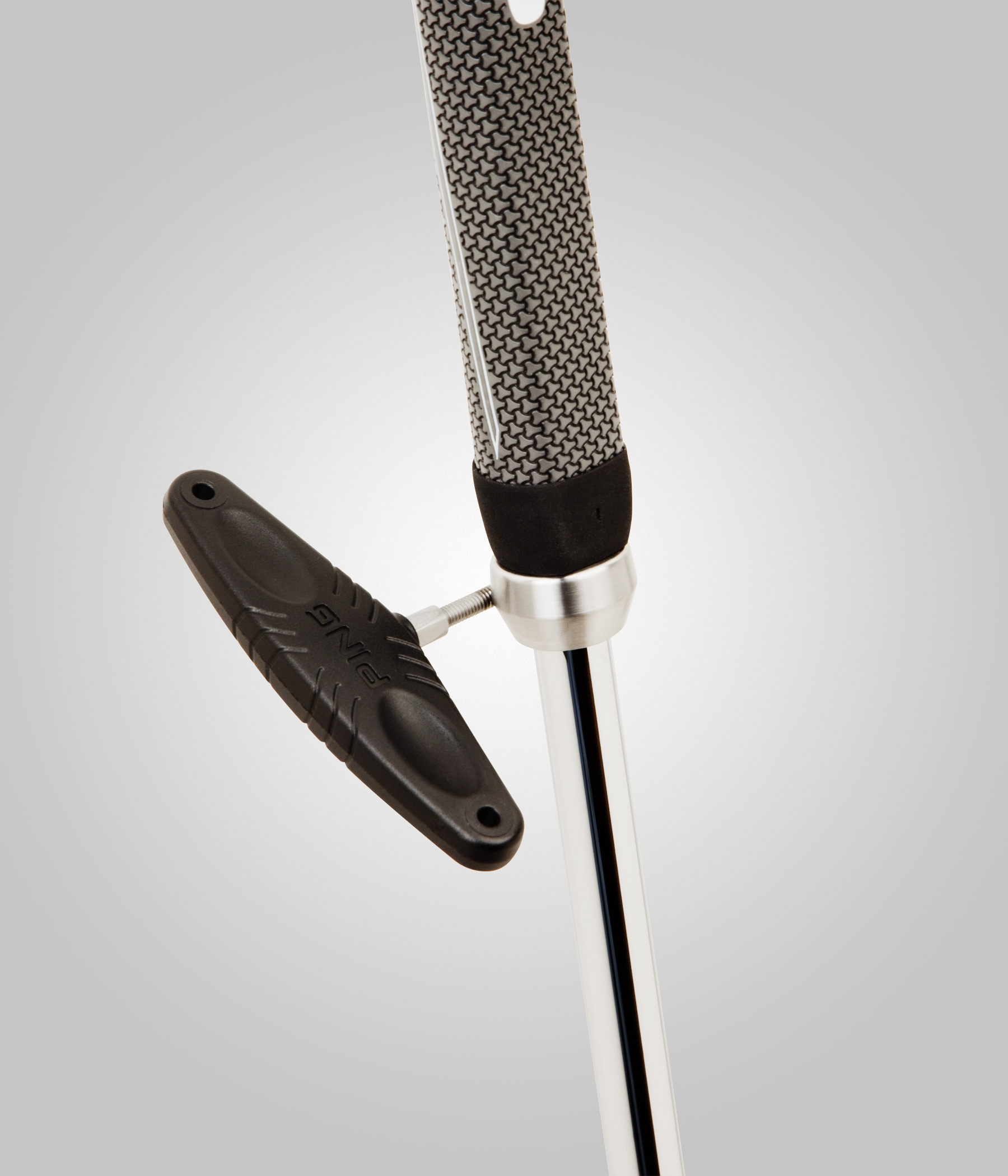 PING's adjustable putter shaft (above) is offered exclusively with the PING-405 (below)