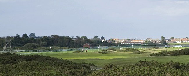 View across the course to the race track