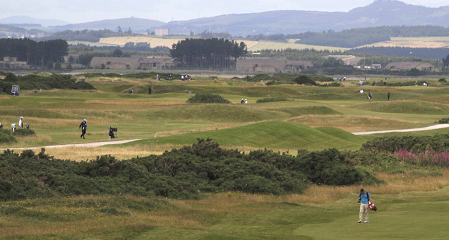 View across the Old course from the roof of the Links Trust clubhouse