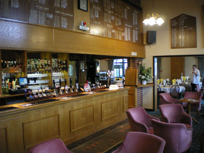 Welcoming bar and restaurant