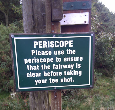 Persicope need for a blind hole