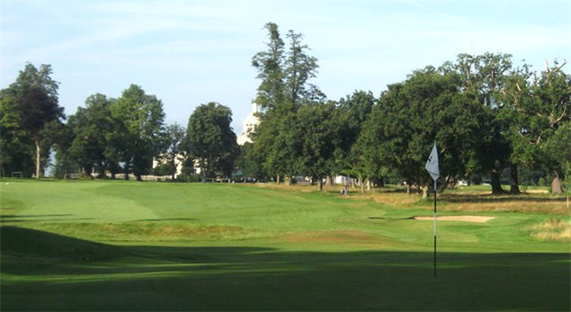 Glimpse the hotel from the tenth green