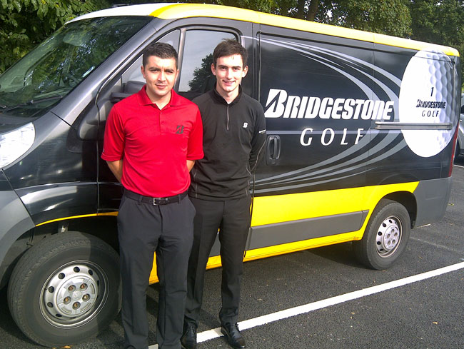 Bridgestone technicians Joe Di Stefano and Danny Osborne