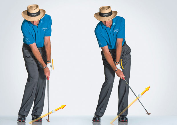 Cup wrist to lob the ball high (image courtesy of Golf Digest)
